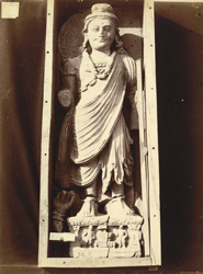 Statue of a Bodhisattva from Mian Khan Tope, Mala Tangi, Peshawar District
